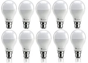 Syska SRL Base B22 9-Watt LED Bulb (Pack of 10, Cool White) for Rs.776 – Amazon