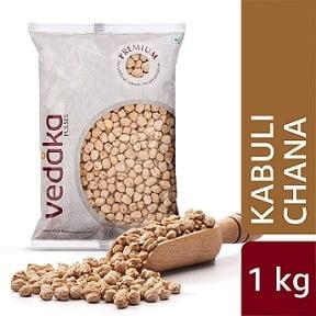 Vedaka Premium Kabuli Chana/Chhole, 1 kg for Rs. 69 @ Amazon PANTRY