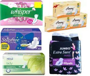 Women's Hygiene – Sanitary Napkins 20% – 66% off @ Flipkart