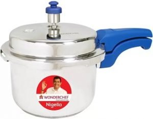 Wonderchef Nigella Blue 3 L Induction Bottom Pressure Cooker (Stainless Steel) for Rs.1549 – Flipkart
