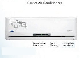 Carrier Split Air Conditioner (1 – 1.5 Ton) – Upto 43% Off, starts Rs.26,499 @ Flipkart + Extra 10% Off on ICICI Cards