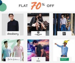 Fashion Brand Flash Sale: Flat 70% off @ Myntra