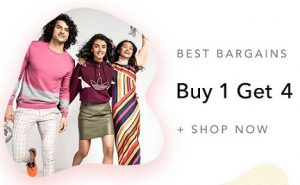 Myntra Clearance Sale: Buy 1 Get 4 | Buy 1 Get 2 | Buy 1 Get 1