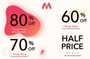 Myntra Clearance Sale:  Flat 60% off   Flat 70% off   Flat 80% Off on Fashion Styles