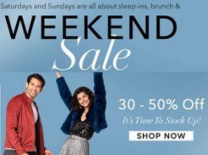 Myntra Weekend Sale – 30% – 75% off