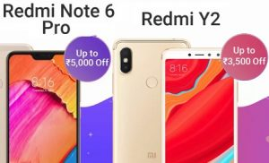Great Discount Offer on Mi Phones: Redmi Y2 Rs.7,999 | Redmi Note 6 Pro Rs.10,999 @ Flipkart