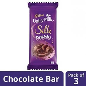 Cadbury Dairy Milk Silk, Bubbly, 120g each (Pack of 3) worth Rs.480 for Rs.239 – Amazon