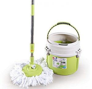 Cello Kleeno Ultra Clean Spin Mop Bucket With Round Refill Heads (Green, 4-Pieces) for Rs.1,078 – Amazon
