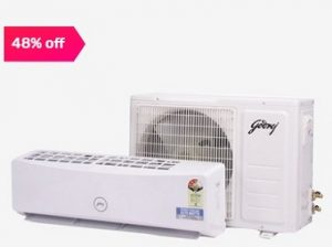 Godrej 1.5 Ton 3 Star Copper (BEE Rating 2018) GSC 18 RGN 3 CWQR Split AC for Rs.27,700 + Free 2 Yrs Extended Warranty – Tatacliq