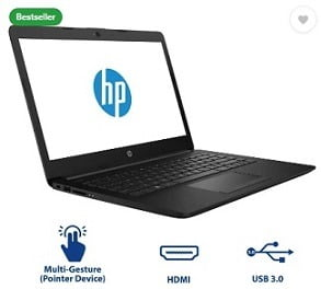 HP 14q Core i3 7th Gen – (4 GB/1 TB HDD/DOS) 14q-cs0009TU Thin and Light Laptop  (14 inch, Jet Black, 1.47 kg) for Rs.23,990 – Flipkart