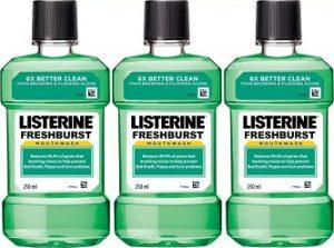 Listerine Mouthwash Combo - Fresh Burst (750 ml)