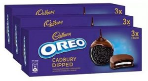 Oreo Cadbury Dipped Cookie  (450 g, Pack of 3) for Rs.162 – Flipkart