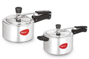Pigeon Favourite Aluminum Pressure Cooker with Inner Lid, 3 Litres, Silver + Aluminum Pressure Cooker with Inner Lid, 5 Litres, Silver for Rs.1548 – Amazon