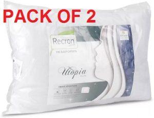 Recron Certified Plain Bed/Sleeping Pillow Pack of 2 for Rs.329 – Flipkart