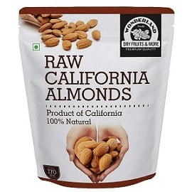 Wonderland Foods California Raw Almonds (1Kg) for Rs.879 – Amazon
