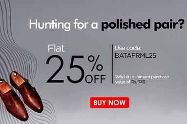 Men's BATA Formal Shoes (New Arrivals) – Get Flat 25% Off @ BATA