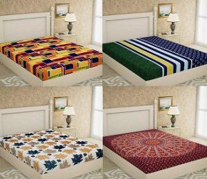 Metro Living Cotton Double Bedsheets for Rs.299 – Flipkart