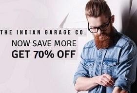 The Indian Garage Men's Clothing – Flat 70% off @ Ajio