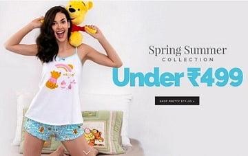 Women's Nightwear / Activewear – under Rs.499 @ Zivame