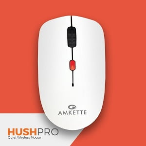Amkette Hush Pro-The Quiet Wireless Mouse for Laptop/PC/Desktop (with USB Receiver) for Rs.399 – Amazon
