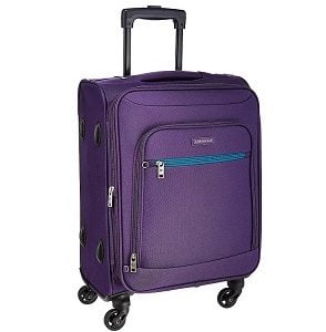 Aristocrat Nile Polyester 54 cms Purple Soft Sided Carry-On for Rs.1,552 – Amazon