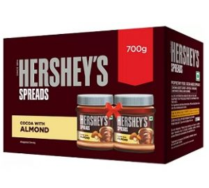 Hershey's Spreads Cocoa with Almond-Twin Pack 700 g worth Rs.500 for Rs.302 @ Flipkart (Buy 2 Get 5% extra off, Buy 3 Get 10% extra off)