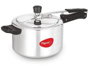 Pigeon by Stovekraft Favourite Alluminum Pressure Cooker with Inner Lid, 5 litres