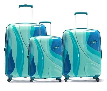 SKYBAGS DIO Set of 3 Pieces HIGH Grain Polycarbonate 4W Latest 2019 HARDSIDED Luggage (Teal Blue) for Rs.17,150 – Amazon