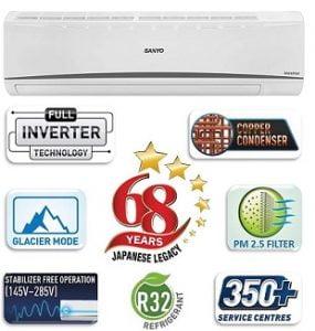 Sanyo 1.5 Ton 3 Star Dual Inverter Split AC for Rs.29,590 – Amazon