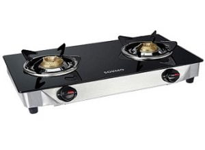 Amazon Brand – Solimo 2 Burner Gas Stove (Glass Top, ISI Certified) for Rs.1,799