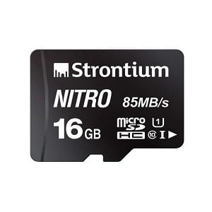 Strontium Nitro 16GB Micro SDHC Memory Card 85MB/s UHS-I U1 Class 10 High Speed for Smartphones Tablets Drones Action Cams for Rs.219 – Amazon