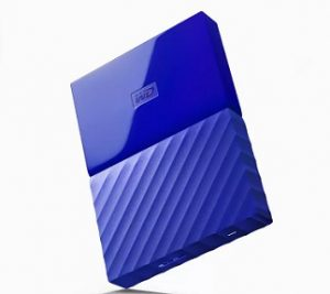 WD My Passport 1 TB Wired External Hard Disk Drive  (Blue) for Rs.3464 – Flipkart