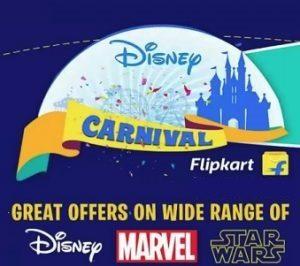Disney Carnival: Kids Clothing, Bags, Toys, Watches, School supplies 30% – 70% off @ Flipkart