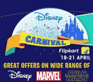 Disney Carnival – 30% – 70% off on Kids Clothing, Bags, Toys, Watches, School supplies @ Flipkart