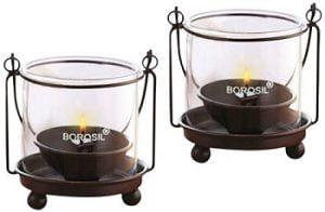 Borosil Hanging Diya Lights (Small, Set of 2) worth Rs.355 for Rs.205 – Amazon