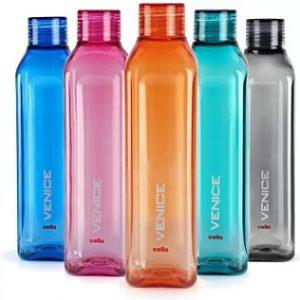 Cello VENICE FRIDGE WATER BOTTLES 1000 ml Bottle  (Pack of 5, Multicolor) for Rs.349