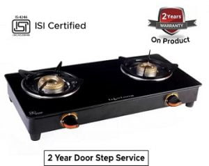 Lifelong LLGS118 Stainless Steel Gas Stove 2 Burners for Rs.1699 @ Flipkart