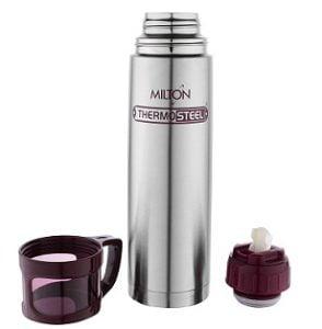 Milton Glassy Flask 1000ml Vaccum Flasks – Purple for Rs.699 – Amazon