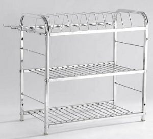 Stainless Steel Kitchen Rack – 18.8 X 10 inches for Rs.911 – Amazon (Limited Period Deal)