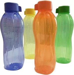Tupperware Aqua Safe 1000 ml Water Bottles (Pack of 4, Pink, Blue, Green, Yellow) for Rs.539 – Flipkart