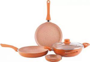 Wonderchef Valencia Induction Bottom Cookware Set  (Aluminium, 4 – Piece) for Rs.1,259 – Flipkart
