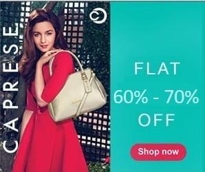 Caprese Women's Handbags & Wallets – Flat 60% – 70% off @ Flipkart