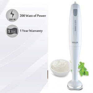 Inalsa Hand Blender Robot 2.5PS 200-Watt | with Low Noise DC Motor | Detachable Stem worth Rs.1295 for Rs.595 – Amazon