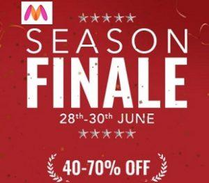 Myntra SEASON FINALE SALE: 40% – 70% Off (28th – 30th JUNE)