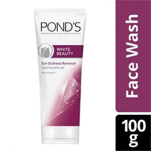 Pond's White Beauty Sun Dullness Removal Daily Facial Scrub 100 g worth Rs.299 for Rs.151