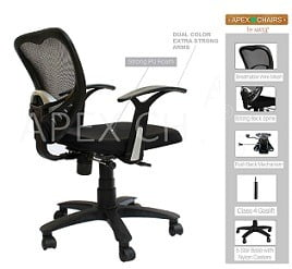 SAVYA HOME APEX Chairs Delta MB Umbrella Base Office Chair worth Rs.10,000 for Rs.3,699 – Amazon