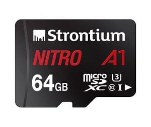 Strontium Nitro 64GB Micro SDXC Memory Card 85MB/s UHS-I U1 Class 10 High Speed for Smartphones Tablets Drones Action Cams for Rs.669 – Amazon