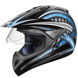 Studds Motocross D2 Helmet With Visor (Black N1, M) for Rs.1193 – Amazon