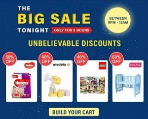 Firstcry Big Sale Tonight ( 9-12 PM ) :- Flat 60% Off   Flat 50% off   Flat 40% Off on Kids Fashion & Essentials