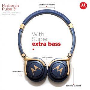 Motorola Pulse 3 Headphones with One Touch Amazon Alexa worth Rs.1599 for Rs.599 – Amazon